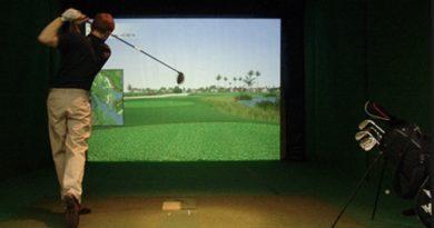 Æfing golfsveiflunnar yfir vetrartímann